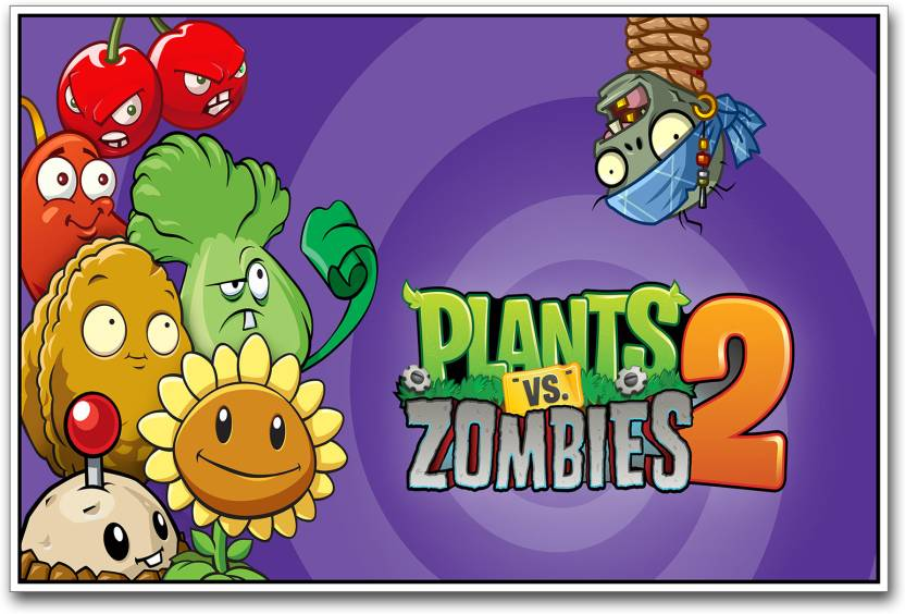 Plants VS Zombies 2 Paper Print - Gaming posters in India