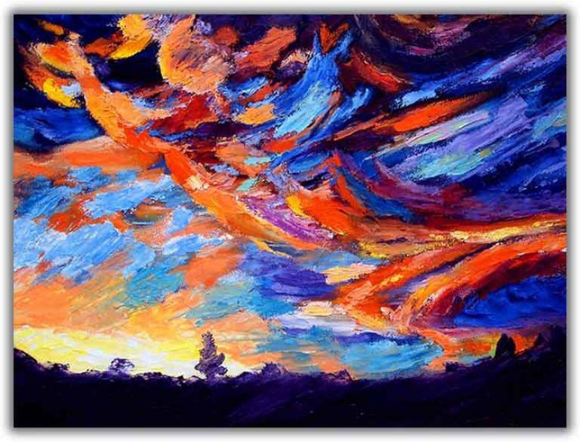 sky view canvas canvas art abstract art paintings