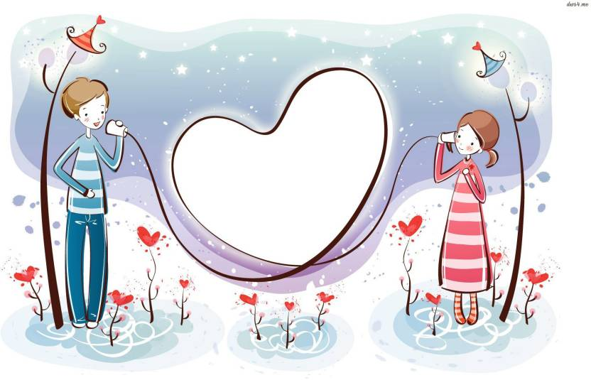 Tallenge - Valentine\'s Day Gift - Cartoon Couple Love - Large Size ...