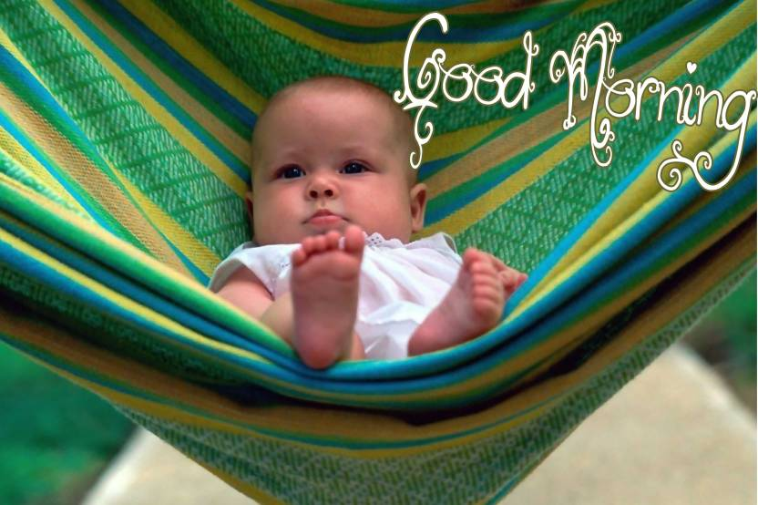 Sweet Smiling Baby Poster With Good Morning Design Upfk504240