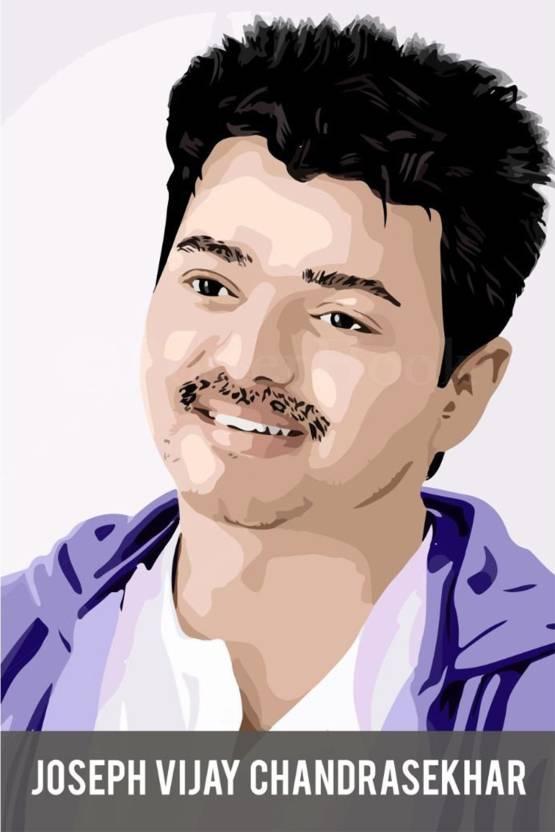 vprint joseph vijay chandrasekhar wall poster movies 12x18 paper