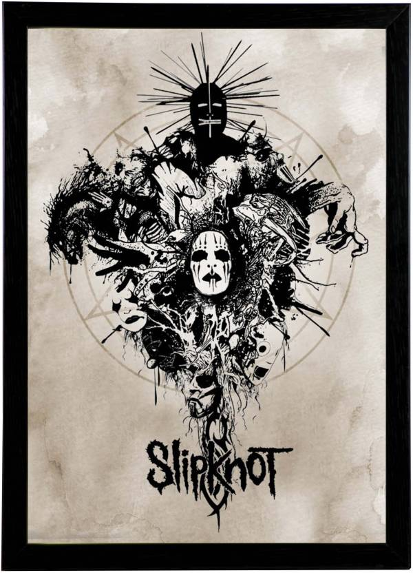 Slipknot Wall Art Framed Wall Poster Photographic Paper