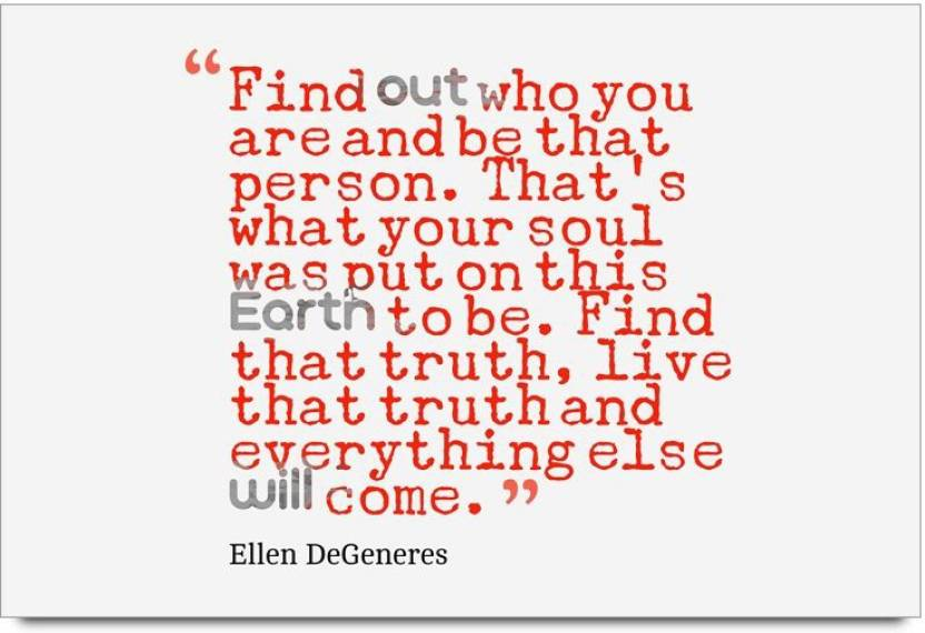 iMerch out who you are quotes by Ellen DeGeneres 3D Poster ...