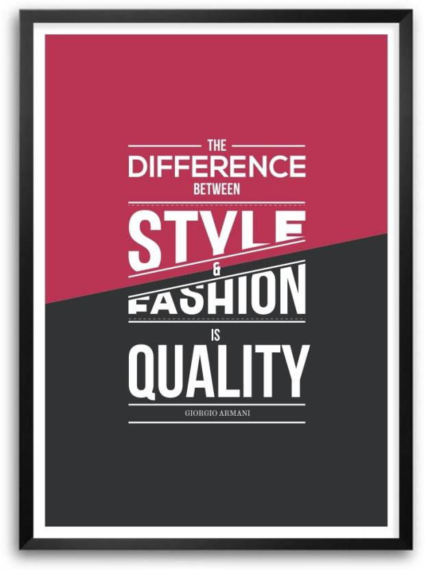 Lab No 4 Style And Fashion Giorgio Armani Quotes Framed Poster