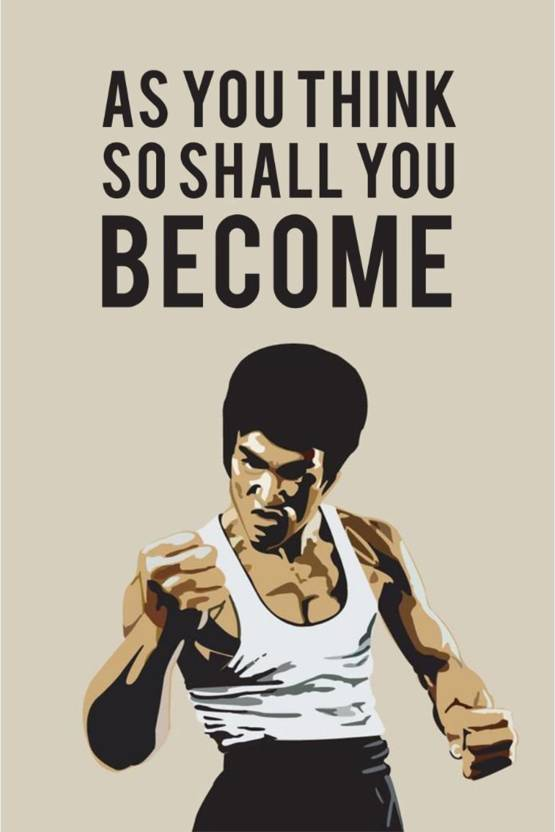 Vprint As You Think So Shall You Become Wall Poster Quotes