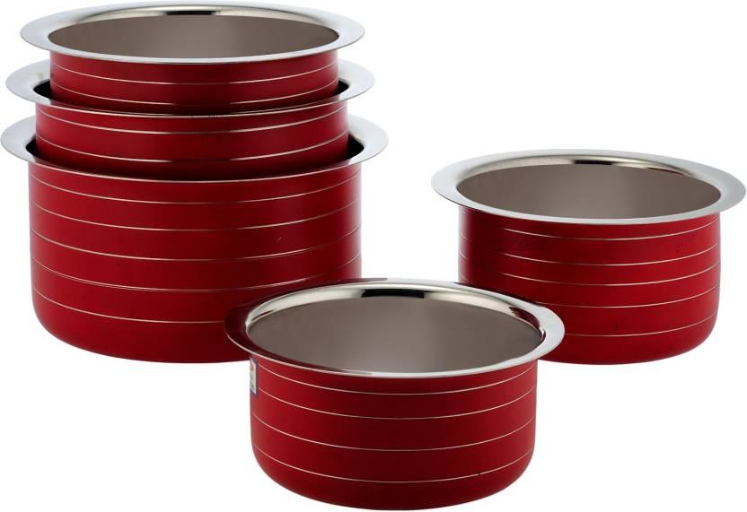 Minimum 40% Off on Cookware By Flipkart | Classic Essentials Pot 1 L, 1.5 L, 2 L, 2.5 L, 3 L (Stainless Steel) @ Rs.899