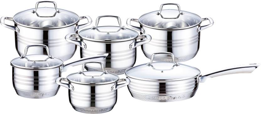 Wellberg Turbo Cook Cookware Set with Lid Pot, Pan Set