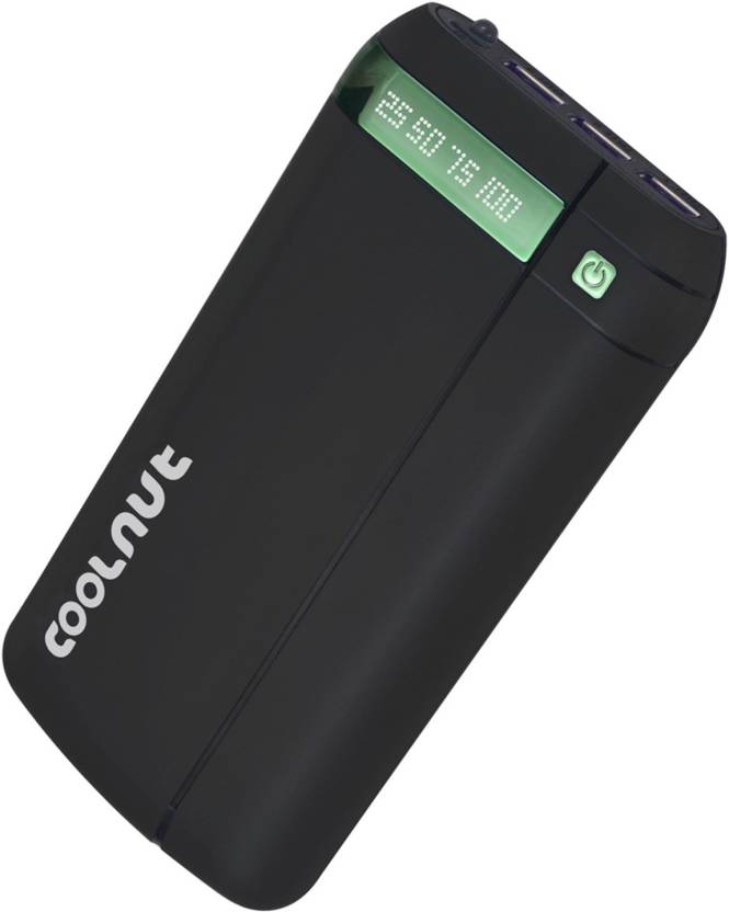 Coolnut High Capacity power bank USB Port and LCD Display 20000 mAh Power Bank