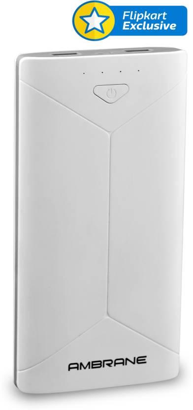 Ambrane P-2080 16000 mAh Power Bank  (White) By Flipkart @ Rs.1,099