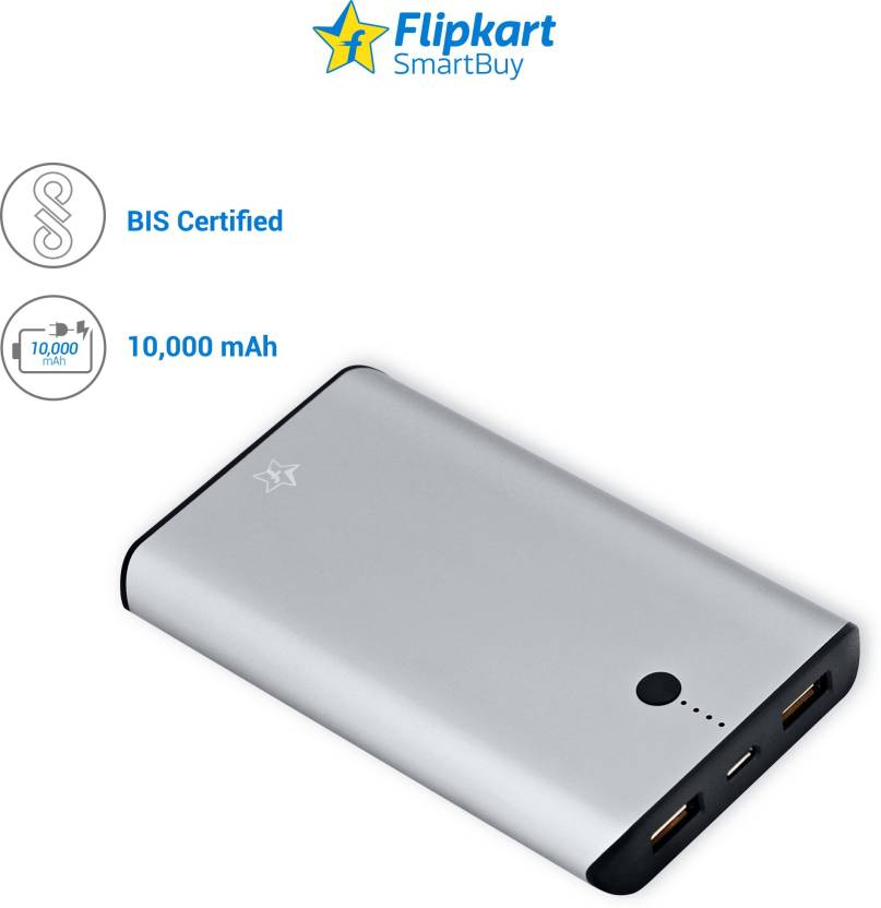 Power Banks Sarting From Rs.899 By Flipkart | Flipkart SmartBuy EP2110 10000 mAh Power Bank  (Grey, Lithium Polymer) @ Rs.999