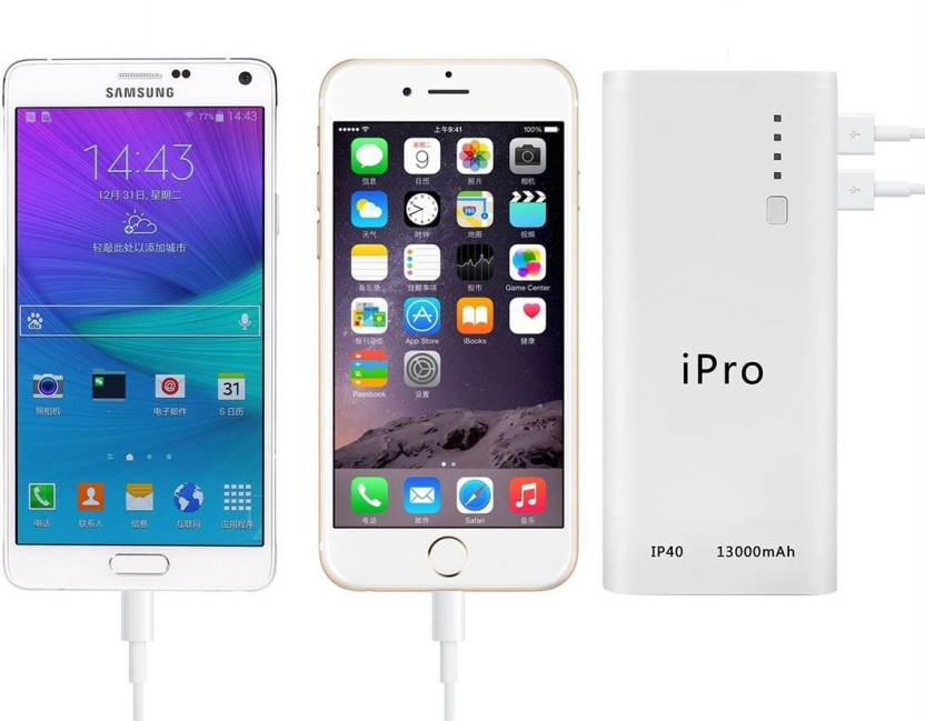 iPro iP40 Portable Powerbank 13000 mAh Power Bank  (White)