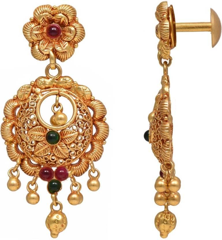 0886ee55f Joyalukkas Yellow Gold 22kt Stud Earring Price in India - Buy Joyalukkas  Yellow Gold 22kt Stud Earring online at Flipkart.com