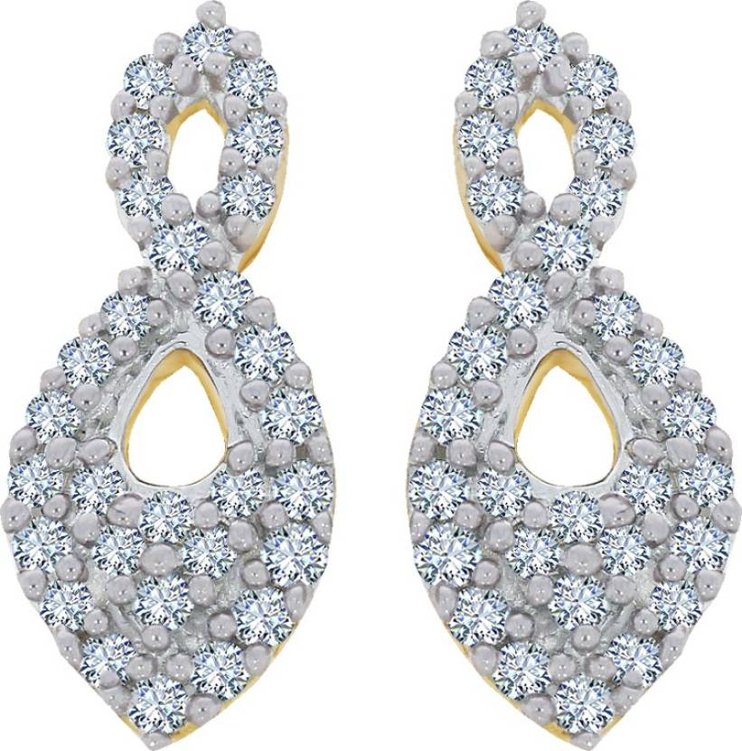 Kalyan Jewellers Yellow Gold 18kt Diamond Stud Earring