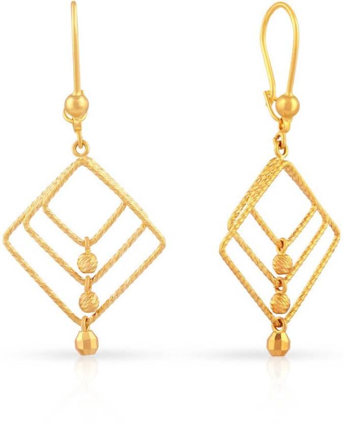 6ab8dc1b3 Malabar Gold and Diamonds Yellow Gold 22kt Drop Earring Price in India - Buy  Malabar Gold and Diamonds Yellow Gold 22kt Drop Earring online at Flipkart .com