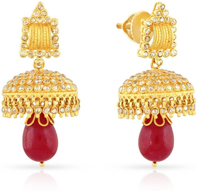 Malabar Gold and Diamonds ERA Yellow Gold 22kt Stud Earring Price ...