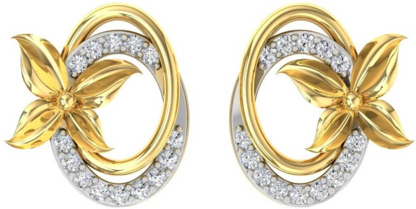 442247978 TBZ TheOriginal Daily Wear Yellow Gold 18kt Diamond Stud Earring Price in  India - Buy TBZ TheOriginal Daily Wear Yellow Gold 18kt Diamond Stud Earring  ...