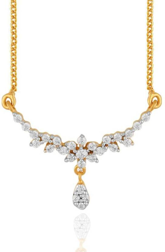 Upto 51% Off On Diamond Jewellery By Flipkart | Nakshatra Delightful 18kt Diamond Yellow Gold Mangalsutra Tanmaniya @ Rs.23,079