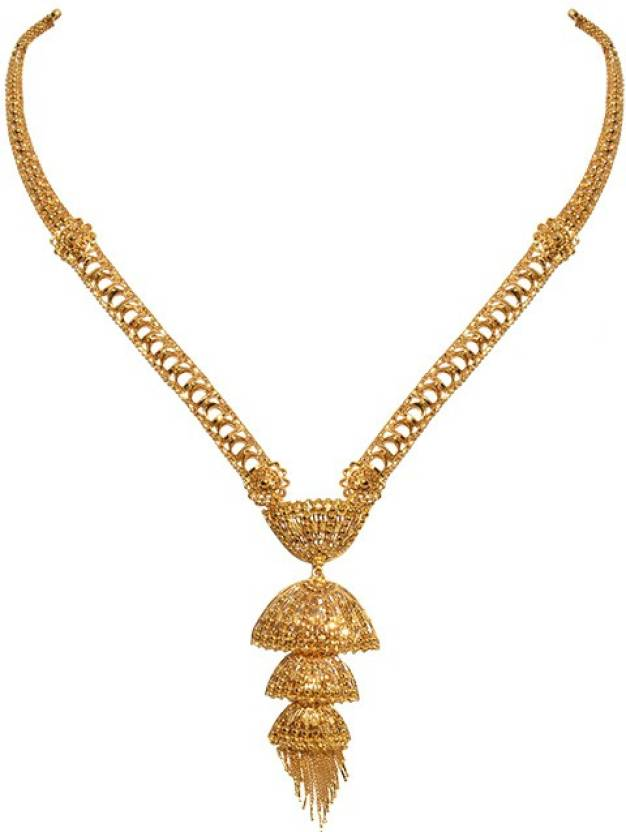 Senco Gold GN002081823 Princess Yellow Gold Precious Necklace ...