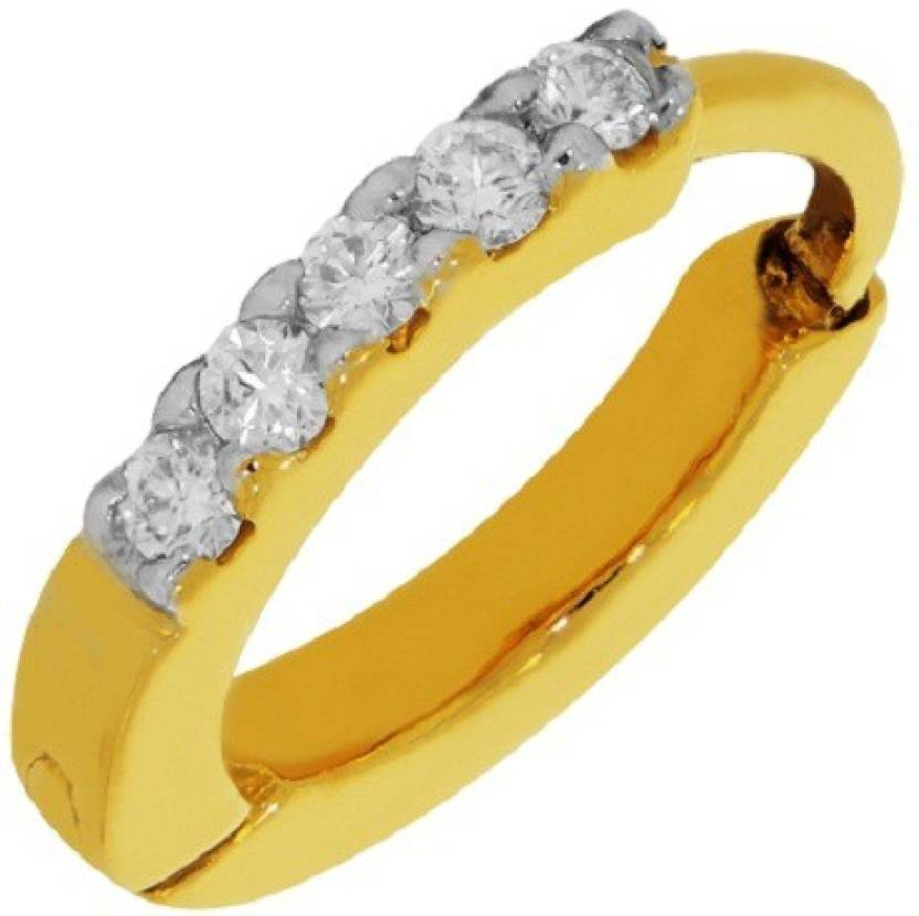 Kalyan Jewellers Saniya Nosepin 18kt Diamond Yellow Gold Ring ...