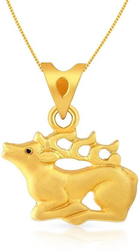 Malabar Gold and Diamonds MHAAAAABBDJI 22kt Yellow Gold Pendant