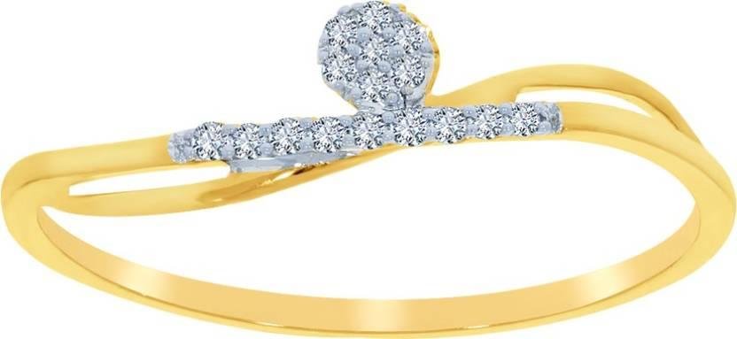 Kalyan Jewellers Light weight Fancy 18kt Diamond Yellow Gold ring