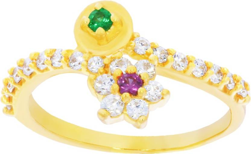 Kalyan Jewellers Signity fancy 22kt Cubic Zirconia Yellow