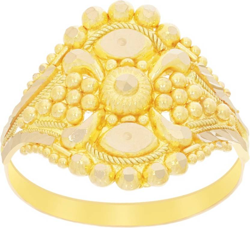 dfeea03ac74 Kalyan Jewellers Ladies Fancy 22kt Yellow Gold ring Price in India ...