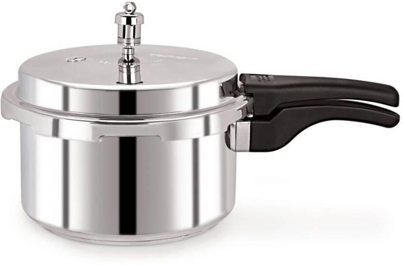 Pristine Deluxe 2 L Pressure Cooker (Aluminium)