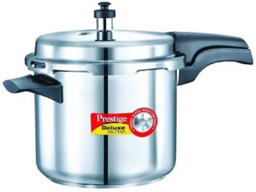 Prestige 5 L Pressure Cooker (Induction Bottom, Stainless Steel)