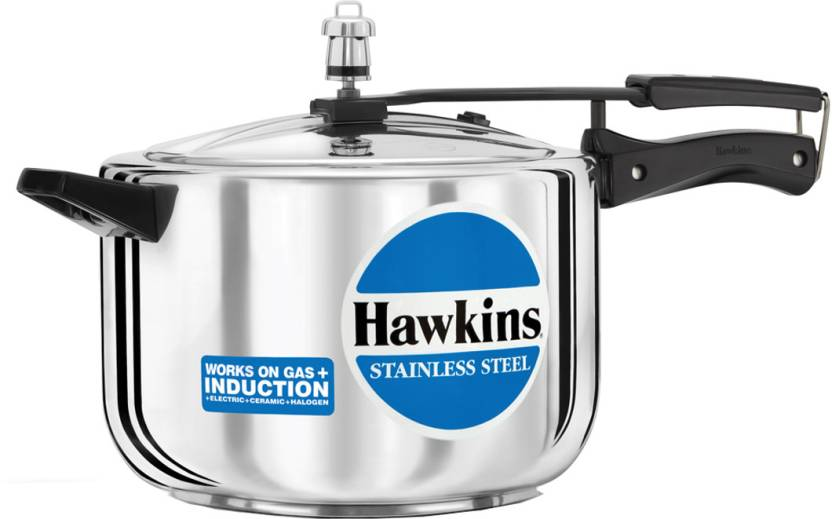 Hawkins Stainless Steel 3 L Pressure Cooker (Induction Bottom, Stainless Steel)