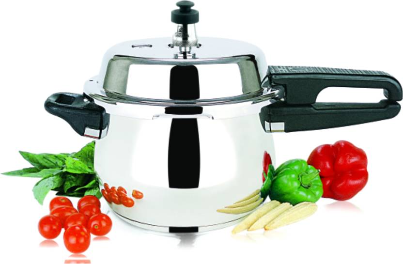 b67df9d91 Garuda Nri Stainless Steel 3.5 L Pressure Cooker with Induction Bottom (Stainless  Steel)