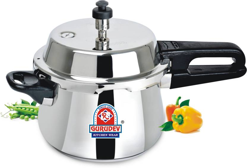 GURUDEV 2.5 L Pressure Cooker (Induction Bottom, Stainless Steel)