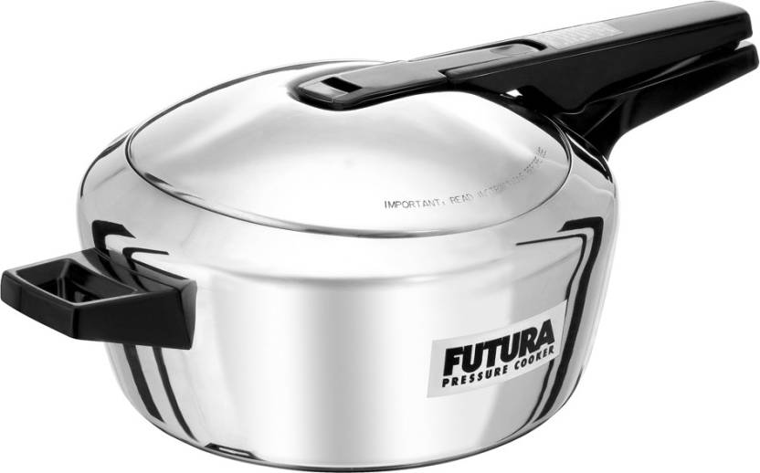 Hawkins Futura Stainless Steel 4 L Induction Bottom Pressure Cooker Stainless Steel