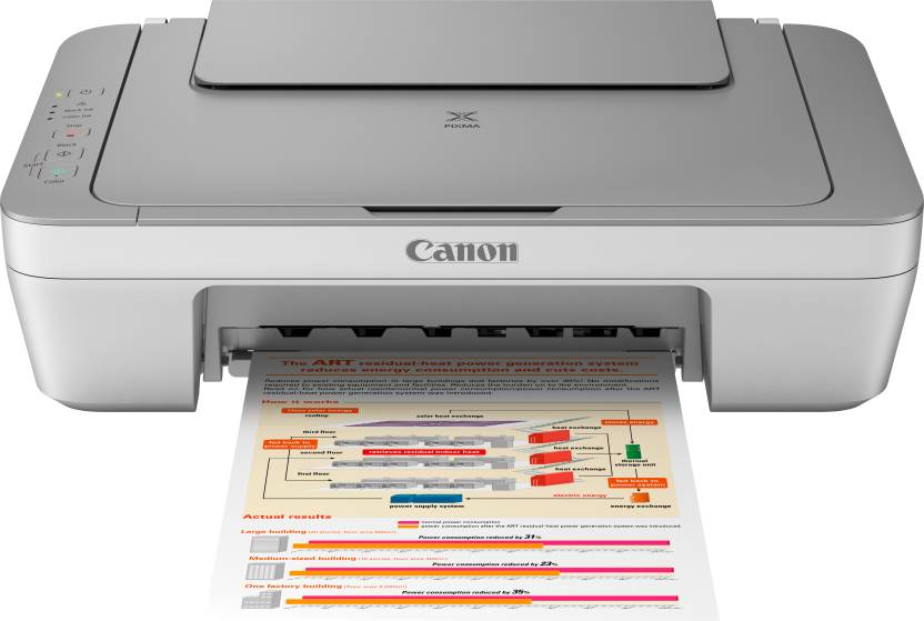 Canon PIXMA MG2470 All-in-One Inkjet Printer  (Grey, White, Ink Cartridge)