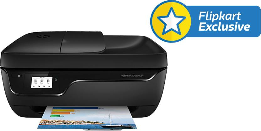 HP DeskJet Ink Advantage 3835 All-in-One Multi-function Printer  (Black) By Flipkart @ Rs.4,999