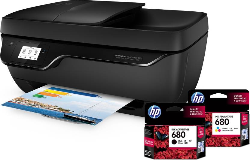 HP DeskJet Ink Advantage 3835 All-in-One Multi-function Printer  (Black, Ink Cartridge)-37% OFF