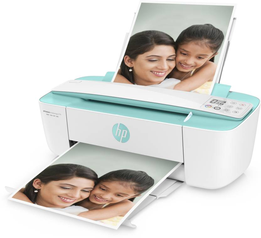 HP DeskJet Ink Advantage 3776 (Wireless) Multi-function Wireless Printer  (White, Green, Ink Cartridge)