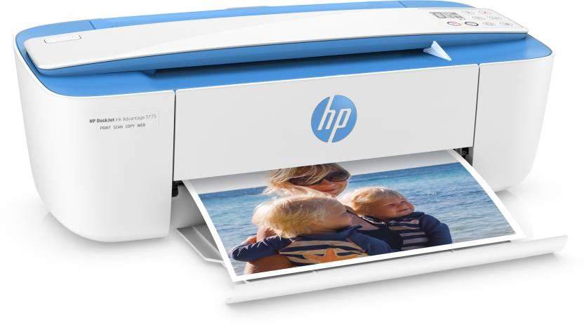 Launching HP Lhasa Extra Rs.500 Off By Flipkart | HP DeskJet Lhasa 3775 Multi-function Printer  (White, Blue) @ Rs.6,099