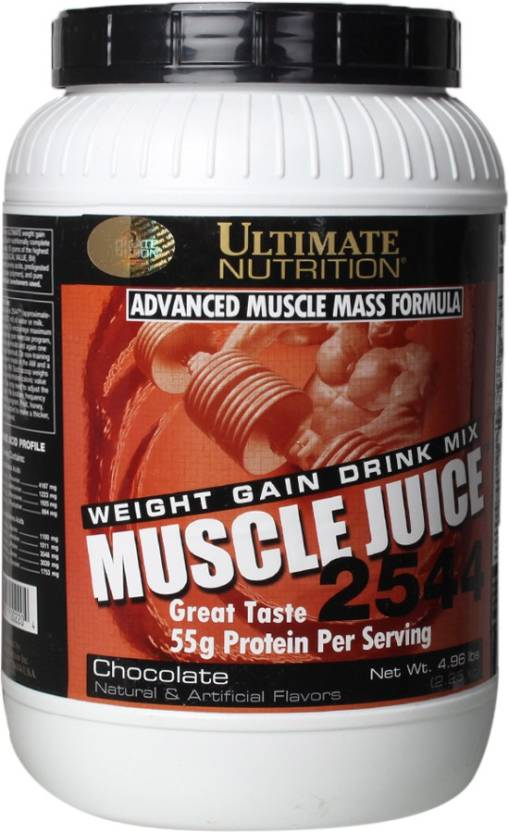 Ultimate Nutrition Muscle Juice Weight Gainers/Mass Gainers (2.25 kg, Chocolate)