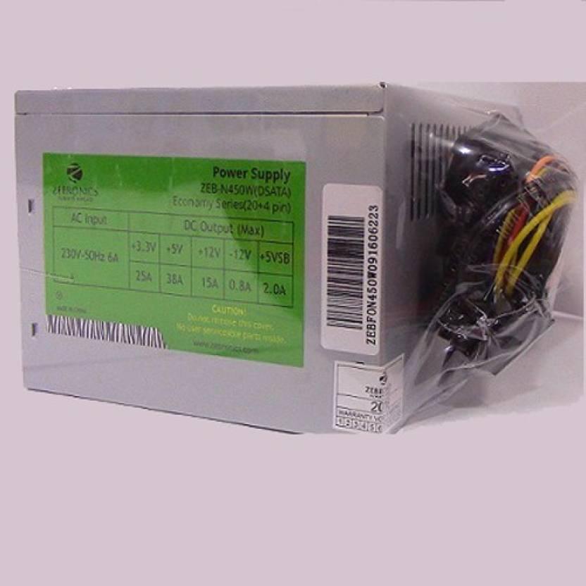 Zebronics ZEB 450W VALUE 450 Watts PSU - Zebronics : Flipkart.com