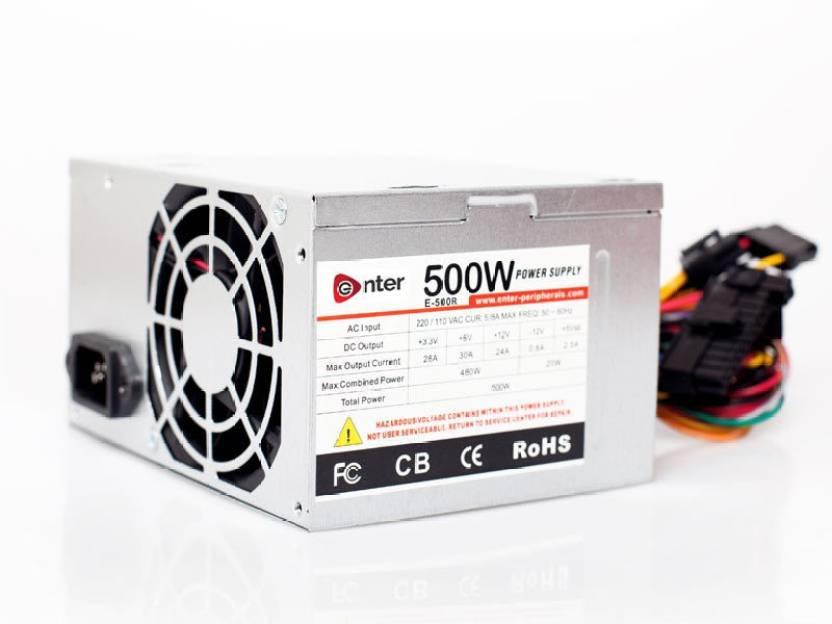 Enter COMPUTER POWER SUPPLY 500W MODEL 500 Watts PSU - Enter ...