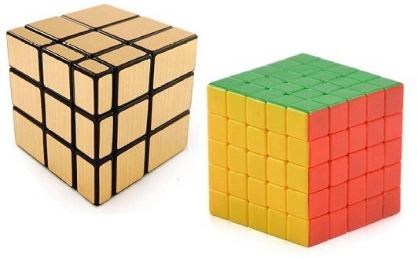 Mayatra's Shengshou Golden Mirror & 5X5X5 Rubik Cube Puzzle With