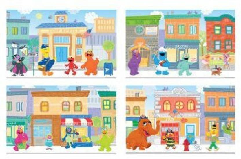 Sesame street puzzles jigsaw