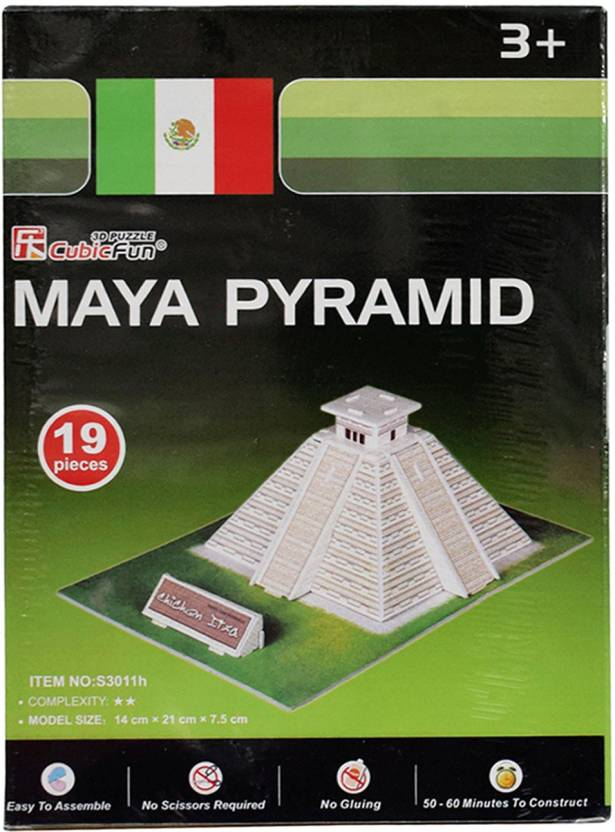 AsianHobbyCrafts ***Maya Piramid (Mini 3D Puzzle) Model Size -15cm x