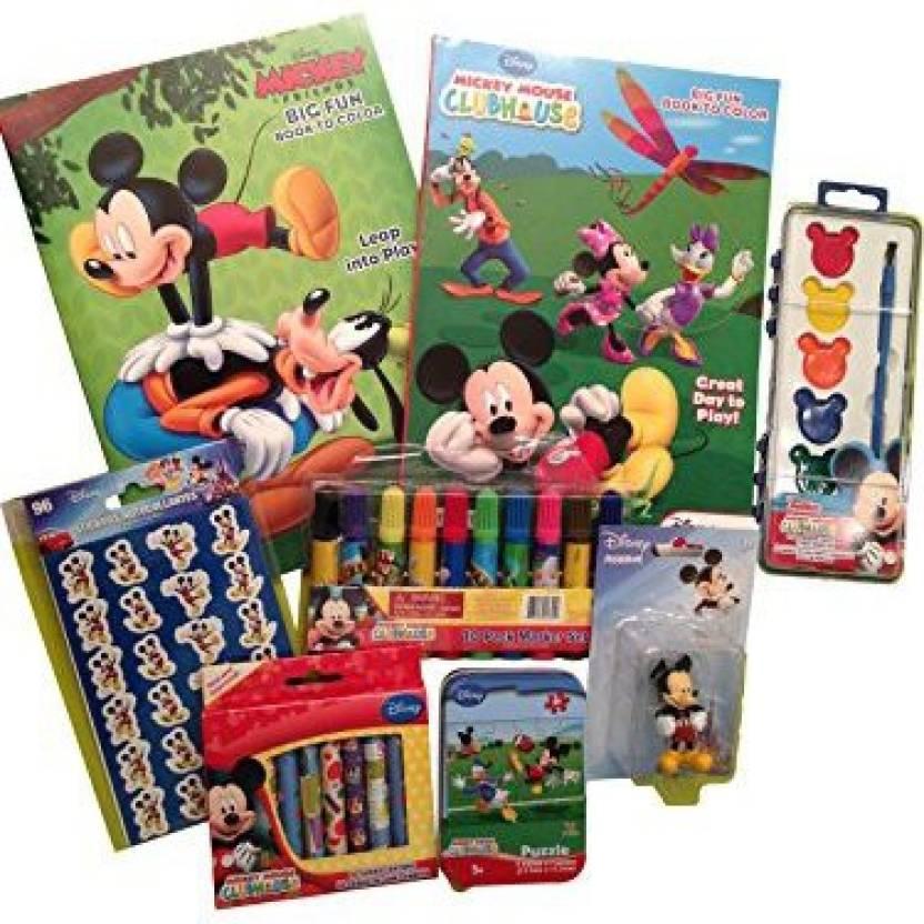 Disney Big FUN Activity Set Mickey Coloring Books Crayons Markers ...