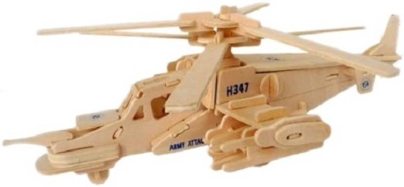 Atanands Wooden 3D Fighter Plane Puzzle - Wooden 3D Fighter