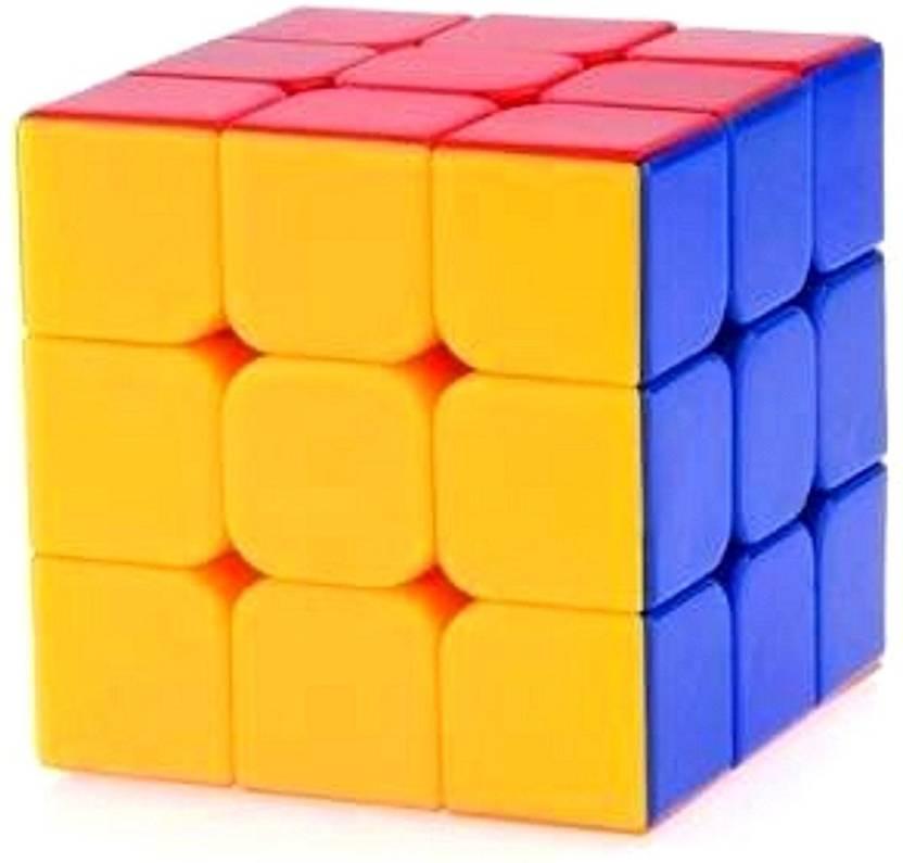 Tuelip Multicolor Sticker less Rubik's Cube For Kids