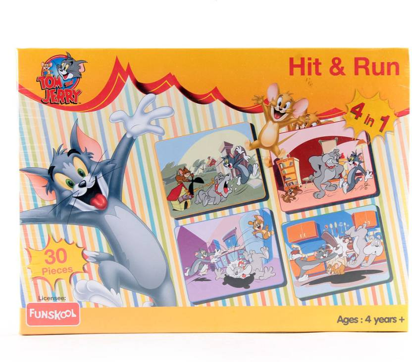 Funskool tom and jerry hit and run 4 in 1 puzzle game tom and funskool tom and jerry hit and run 4 in 1 puzzle game gumiabroncs Choice Image