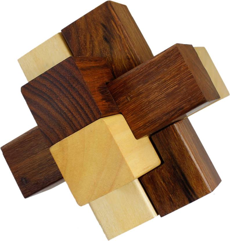 Royaltylane 3d Wooden 6 Pieces Interlocking Block Toy Puzzles For