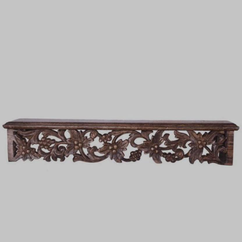Ikashan Wooden Single Shelf Wall